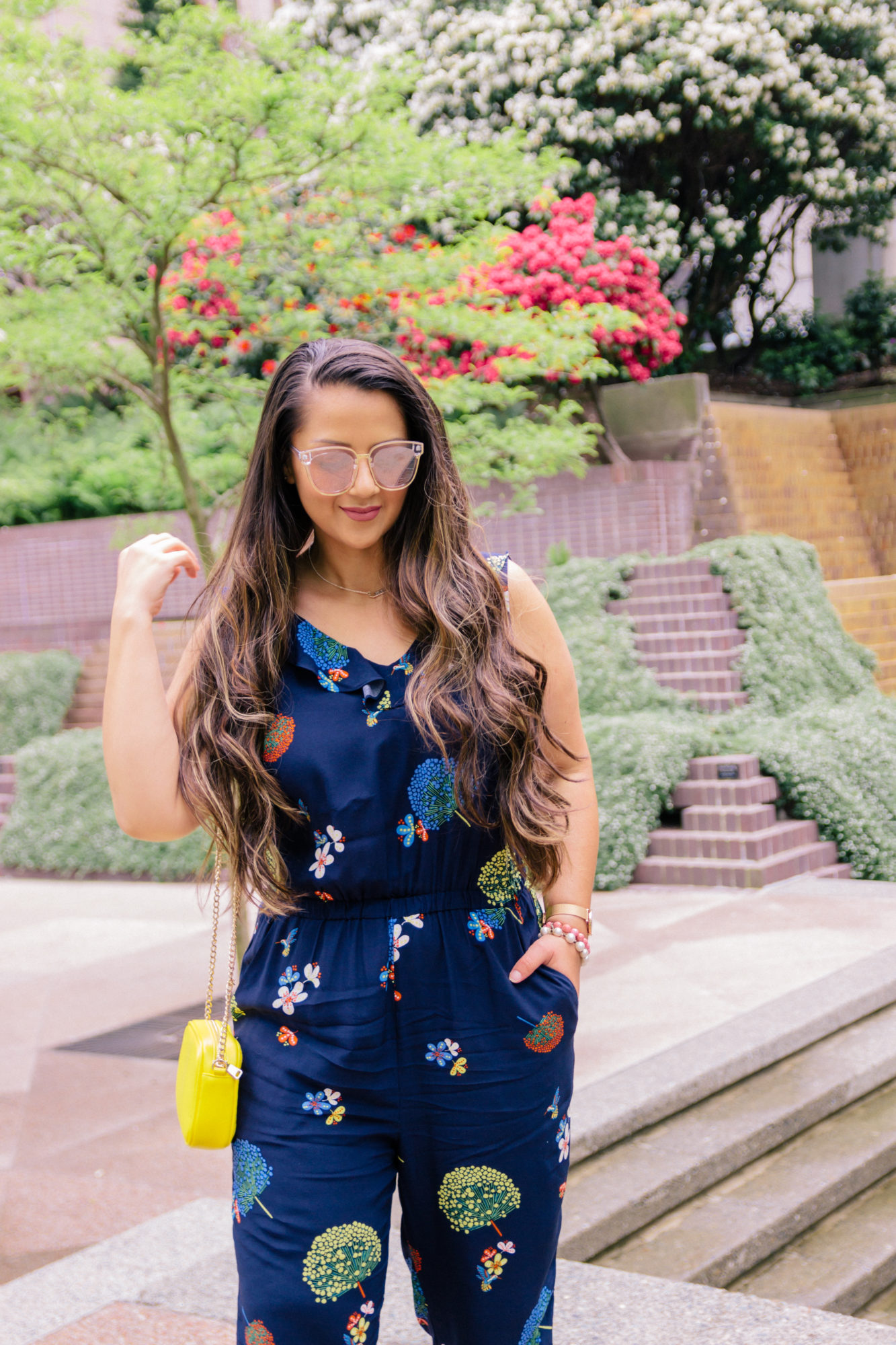 Perfect floral jumpsuit + giveaway!