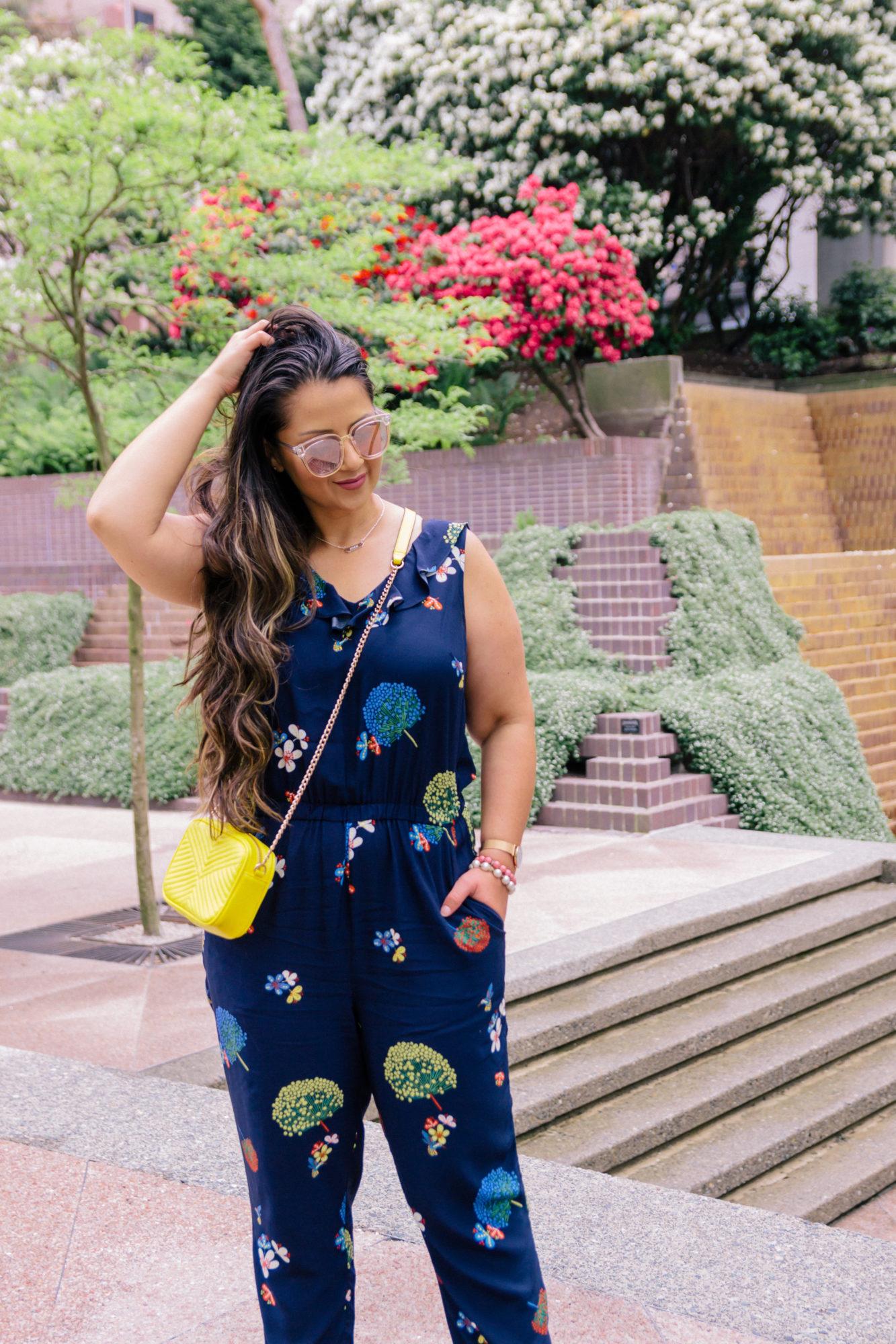 Perfect floral jumpsuit + giveaway!