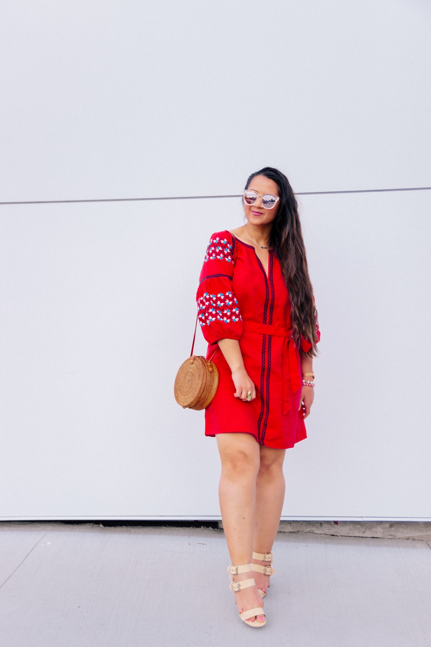 Perfect red weekend dress