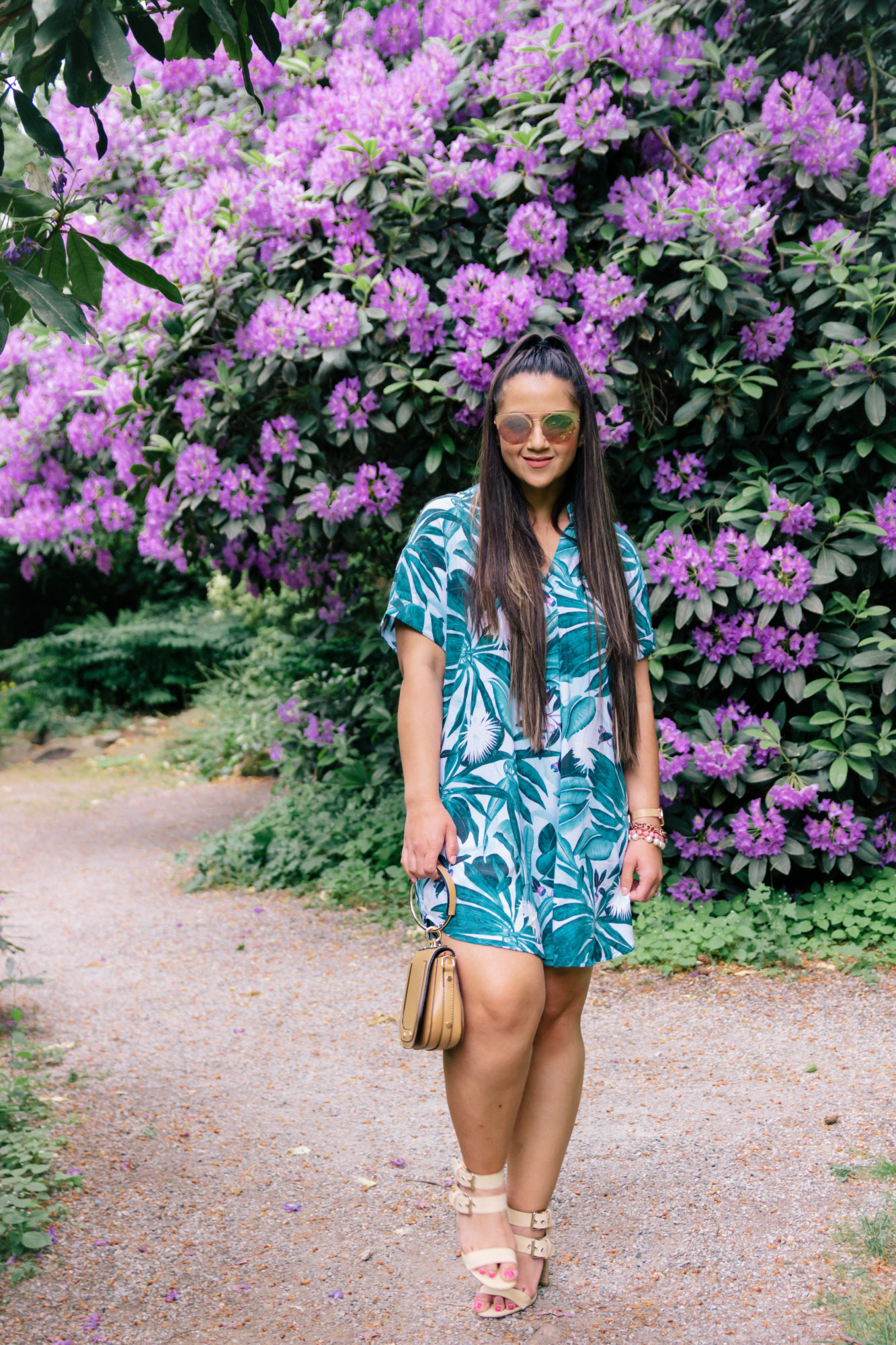 Transformation Tuesday & palm print dress