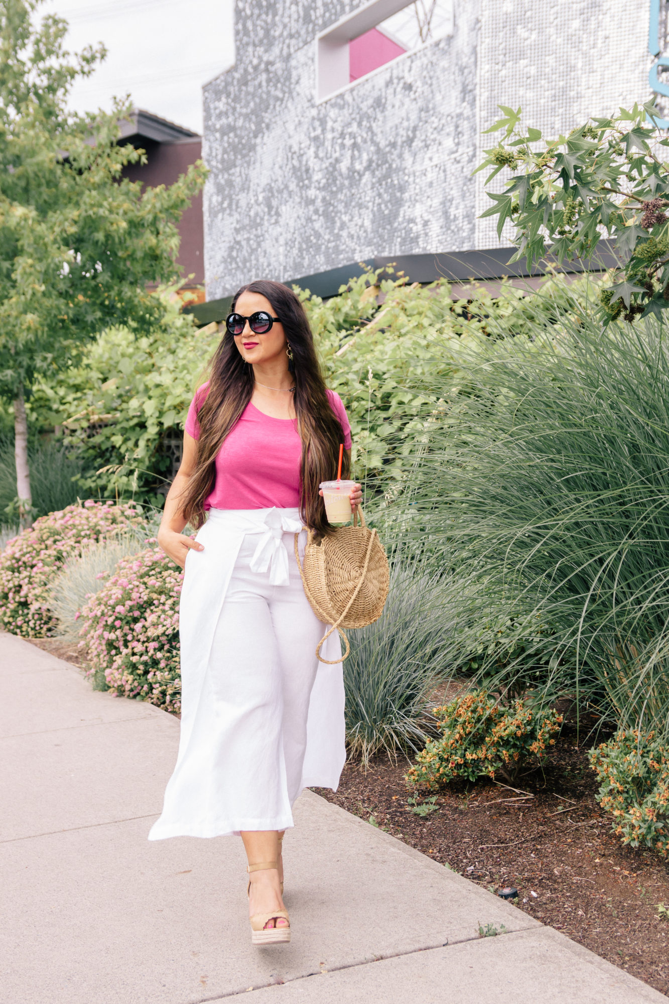 Cropped Wrap Linen Pants