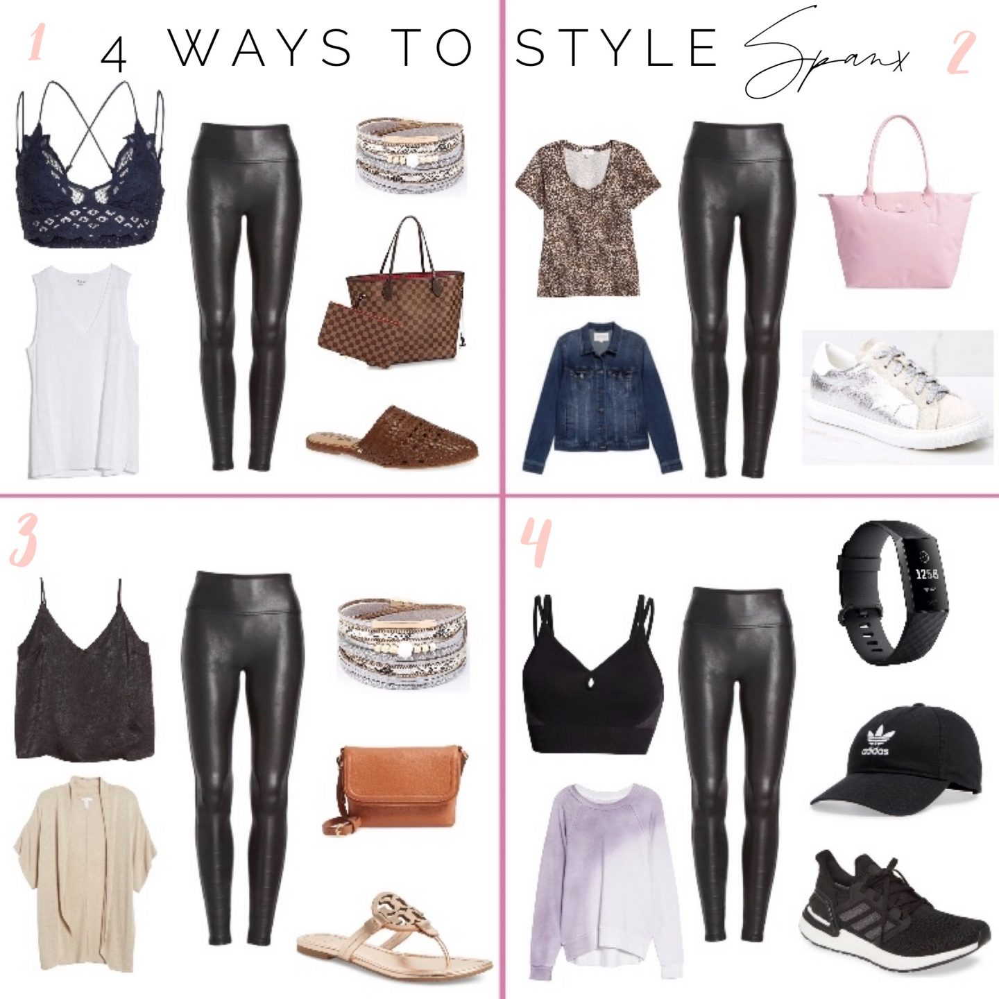 How to style SPANX leggings four ways