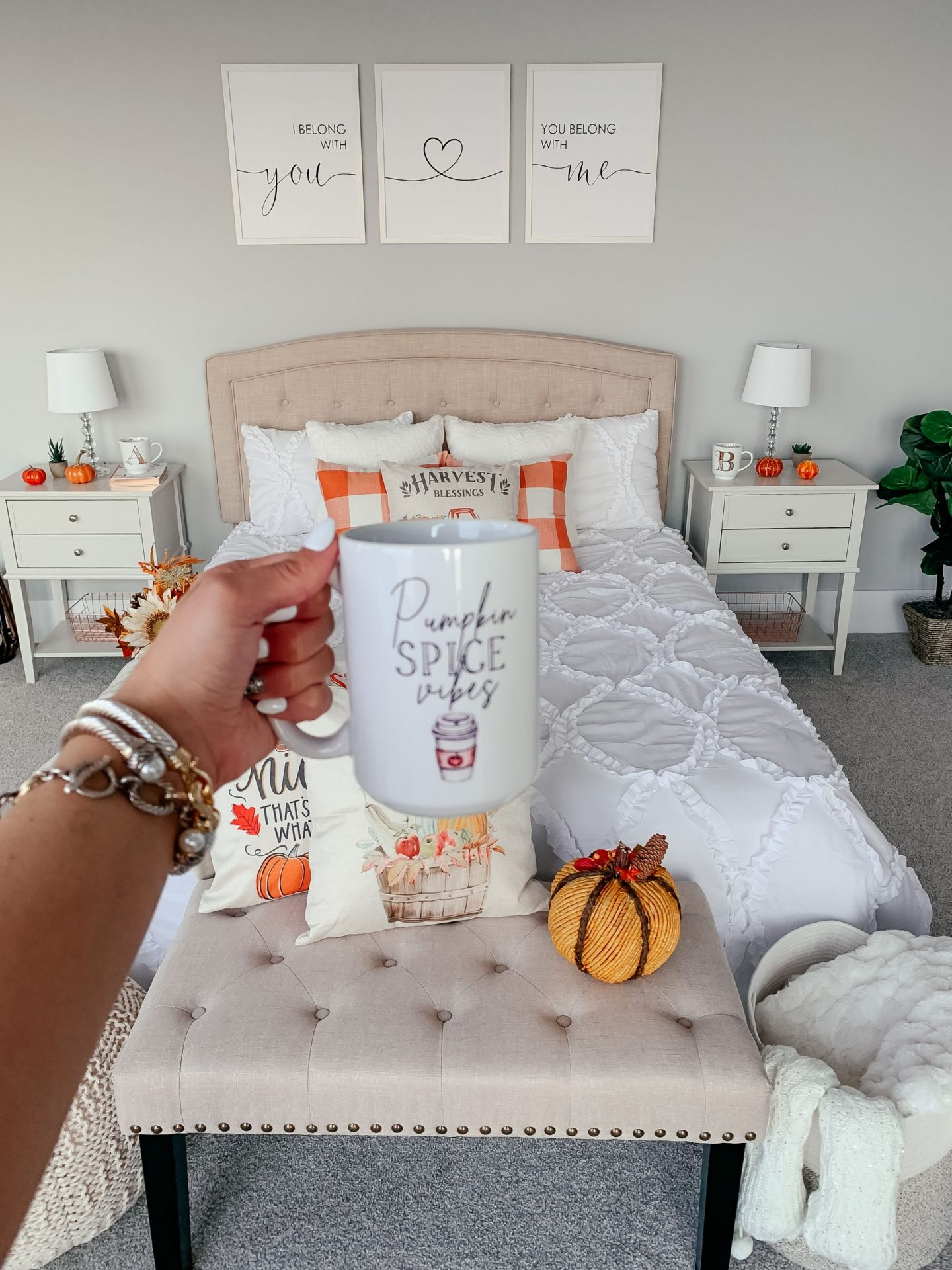 Fall Master Bedroom Decor