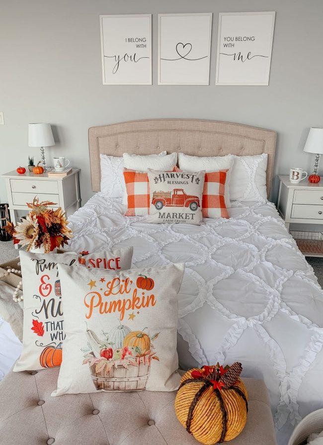 Fall Master Bedroom Decor