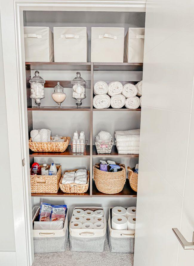 Linen Closet Organization from Amazon