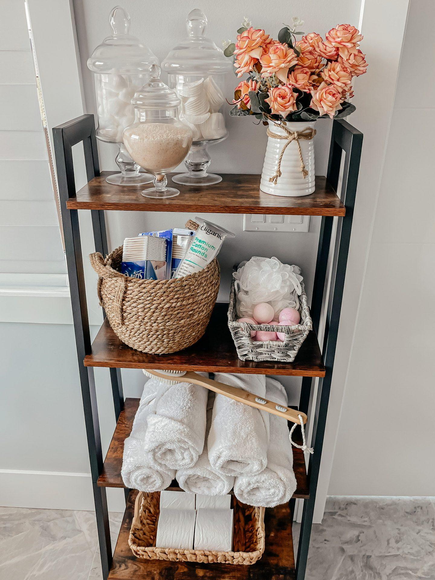Bathroom Organization Ladder from Amazon