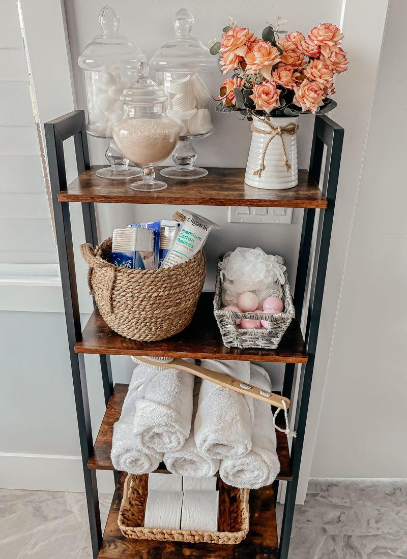 Bathroom Organization Ladder
