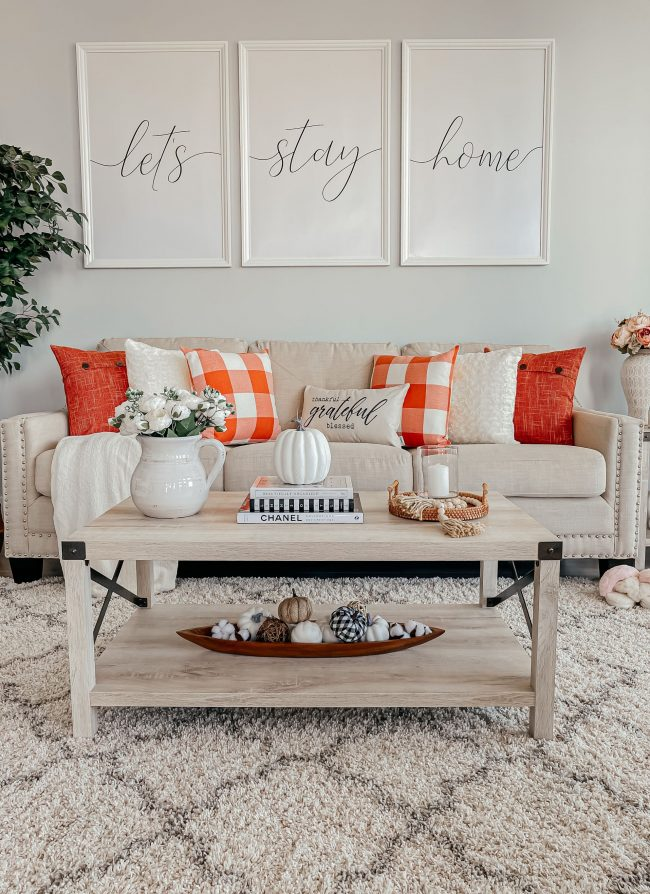 Fall Living Room Ideas from Amazon